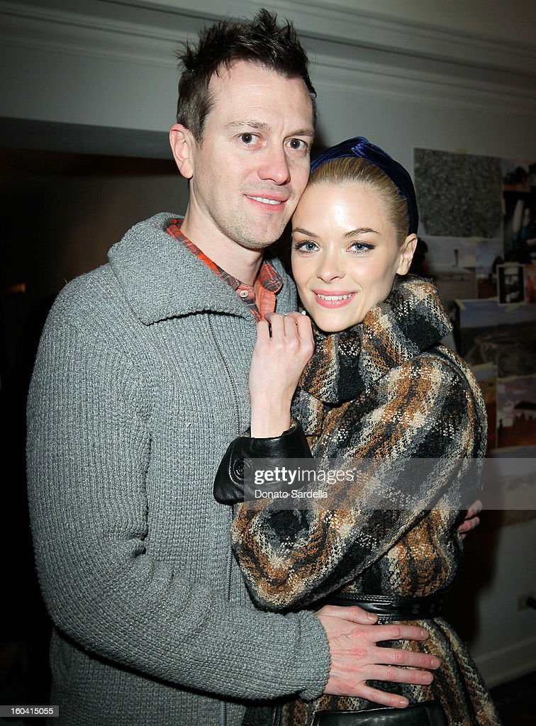Kyle Newman (L) and Jaime King attend Hoorsenbuhs for Forevermark Collection cocktail party at Chateau Marmont on January 30, 2013 in Los Angeles, California.