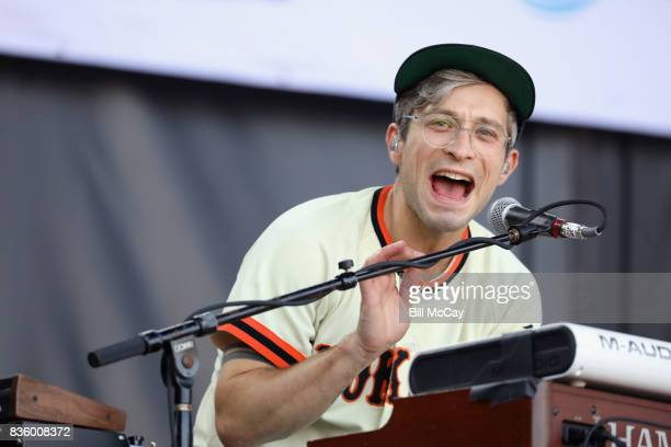 Kyle O'Quin of the band Portugal The Man performs at the Radio 1045 Summer Block Party August 20 2017 in Philadelphia Pennsylvania