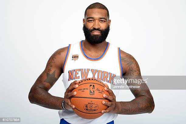 Kyle O'Quinn of the New York Knicks poses for a portrait during media day at the Ritz Carlton in White Plains New York on September 26 2016 NOTE TO...