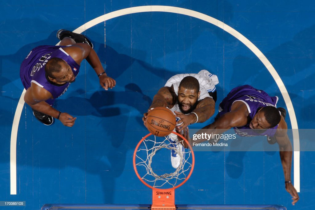 <a gi-track='captionPersonalityLinkClicked' href=/galleries/search?phrase=Kyle+O%27Quinn&family=editorial&specificpeople=9027719 ng-click='$event.stopPropagation()'>Kyle O'Quinn</a> #2 of the Orlando Magic drives to the basket against the Sacramento Kings on February 27, 2013 at Amway Center in Orlando, Florida.