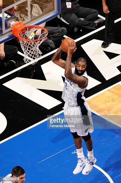 Kyle O'Quinn of the Orlando Magic dunks against the Philadelphia 76ers on December 21 2014 at Amway Center in Orlando Florida NOTE TO USER User...