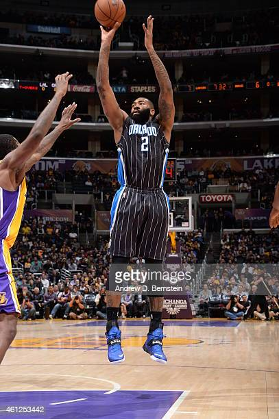 Kyle O'Quinn of the Orlando Magic takes a shot against the Los Angeles Lakers on January 9 2015 at STAPLES Center in Los Angeles California NOTE TO...