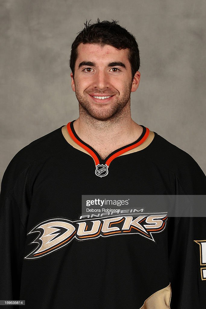 Kyle Palmieri #51 of the Anaheim Ducks poses for his official headshot for the 2012-2013 season on January 13, 2013 at Honda Center in El Segundo, California.
