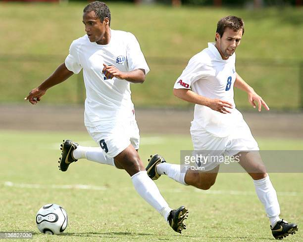 Kyle Patterson and John DiRaimondo on the attack for St Louis In the opening game of the second day of the 2006 Adidas/IU Credit Union Classic at the...