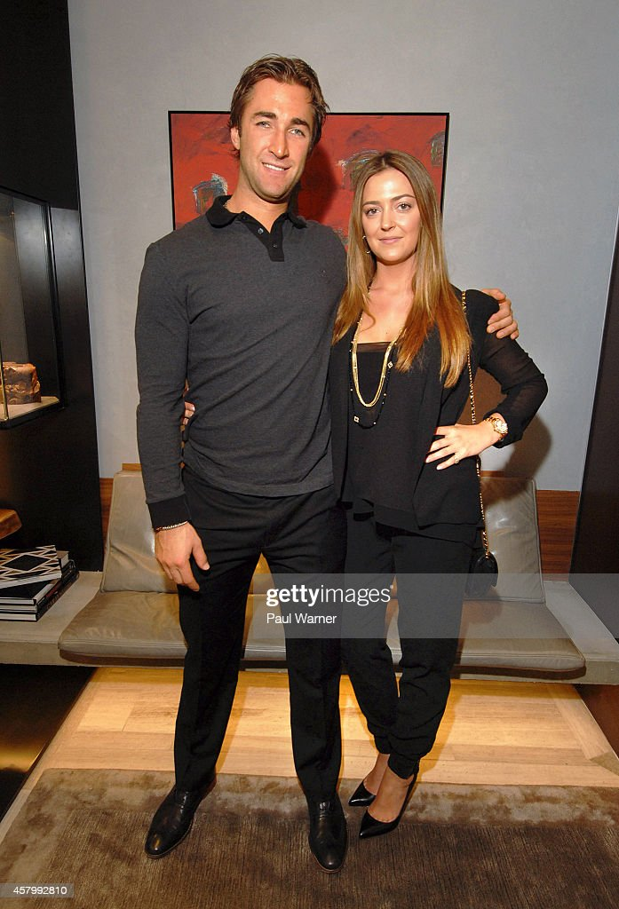 Kyle Quincey and his fiancee Rachel Marie attend an instore event hosted by David Yurman with Kyle Quincey to celebrate the launch of the men's...