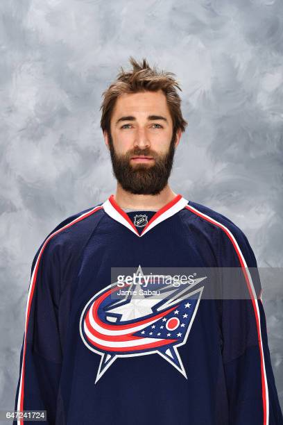 Kyle Quincey of the Columbus Blue Jackets poses for his headshot on March 2 2017 at Nationwide Arena in Columbus Ohio