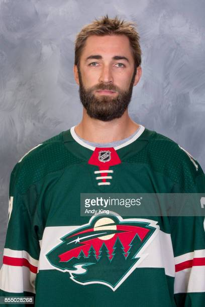 Kyle Quincey of the Minnesota Wild poses for his official headshot for the 20172018 season on September 14 2017 at the Xcel Energy Center in St Paul...