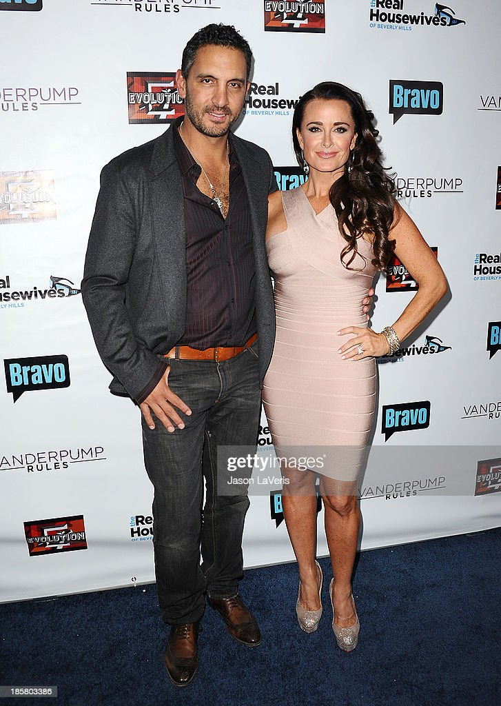 Kyle Richards (R) and husband Mauricio Umansky attend the 'The Real Housewives of Beverly Hills' and 'Vanderpump Rules' premiere party at Boulevard3 on October 23, 2013 in Hollywood, California.