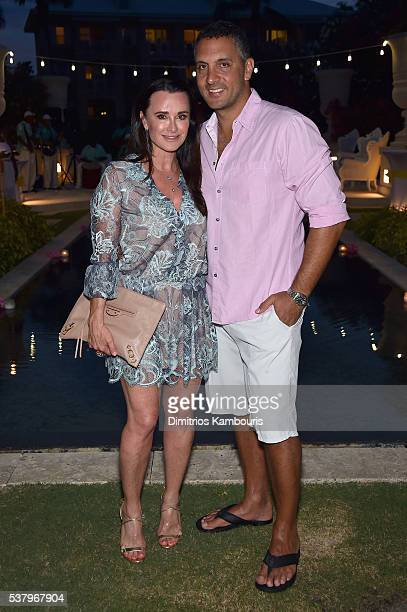 Kyle Richards and Mauricio Umansky attend Happy Hour Golf Pairing And Junkanoo Street Rush during Sandals Emerald Bay Celebrity Golf Weekend on June...