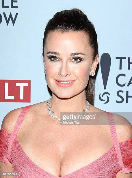 Kyle Richards arrives at REVOLT and The National Cable and Telecommunications Association's celebration of cable party held at Belasco Theatre on...