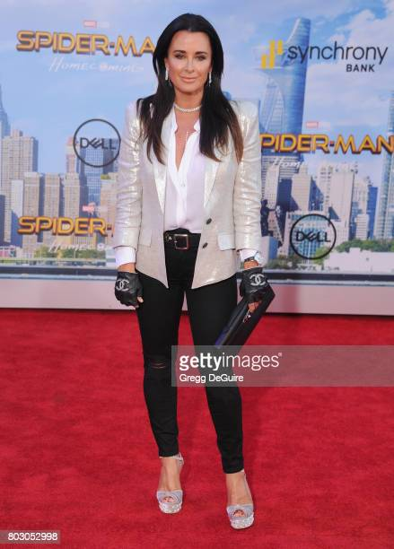 Kyle Richards arrives at the premiere of Columbia Pictures' 'SpiderMan Homecoming' at TCL Chinese Theatre on June 28 2017 in Hollywood California