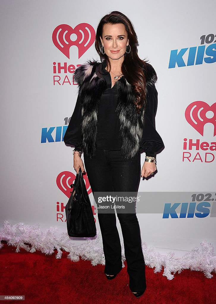 <a gi-track='captionPersonalityLinkClicked' href=/galleries/search?phrase=Kyle+Richards&family=editorial&specificpeople=2586434 ng-click='$event.stopPropagation()'>Kyle Richards</a> attends KIIS FM's Jingle Ball at Staples Center on December 6, 2013 in Los Angeles, California.