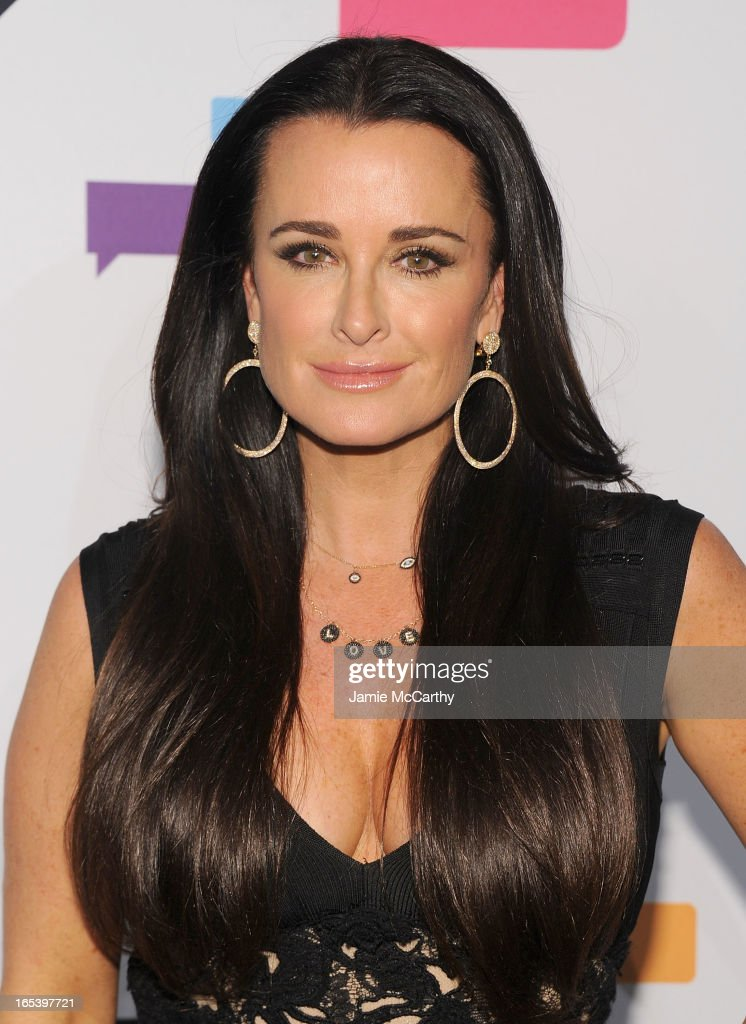 Kyle Richards attends the 2013 Bravo New York Upfront at Pillars 37 Studios on April 3, 2013 in New York City.