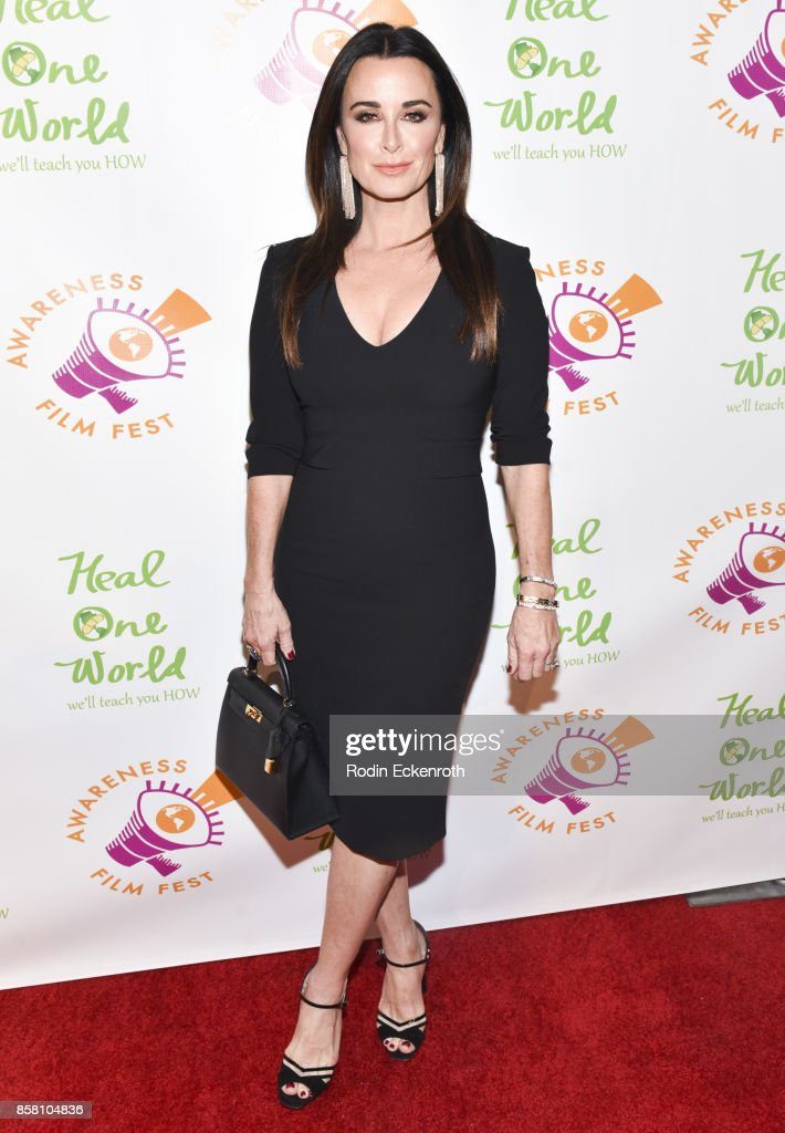 Kyle Richards attends the 2017 Awareness Film Festival Opening Night Premiere of 'The Road to Yulin and Beyond' at Regal LA Live Stadium 14 on October 5, 2017 in Los Angeles, California.