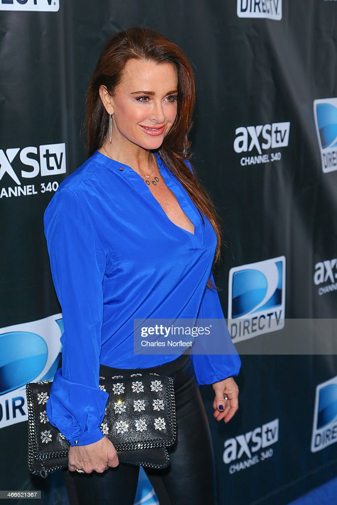 Kyle Richards attends the DirecTV Super Saturday Night at Pier 40 on February 1, 2014 in New York City.