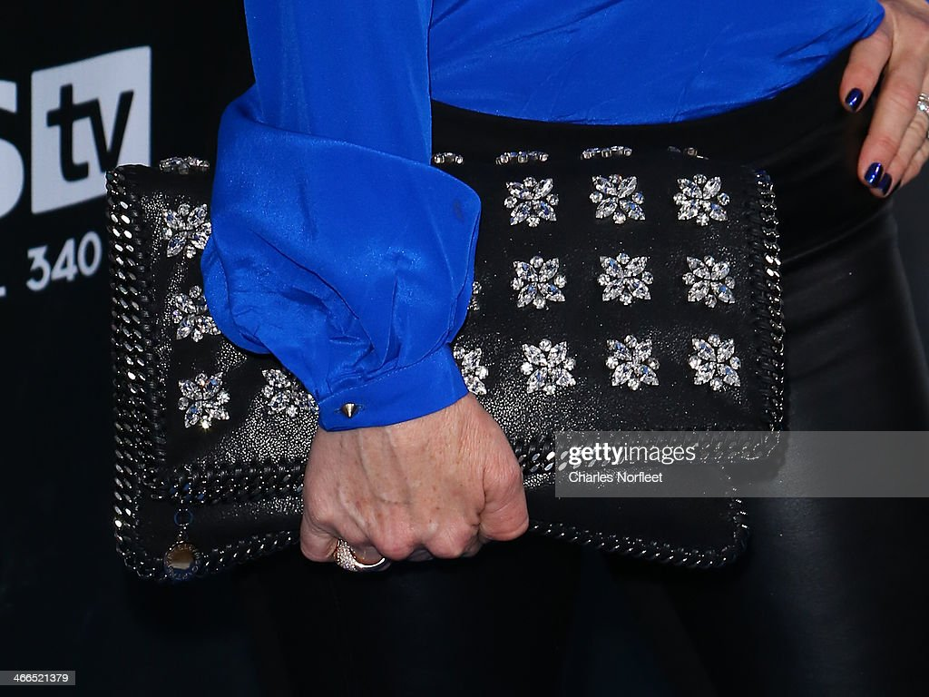 Kyle Richards (purse detail) attends the DirecTV Super Saturday Night at Pier 40 on February 1, 2014 in New York City.