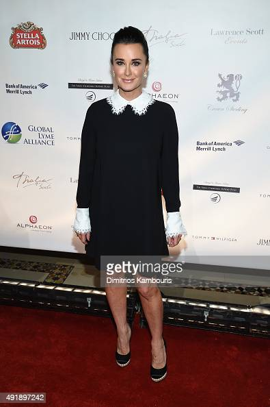Kyle Richards attends the Global Lyme Alliance 'Uniting for a LymeFree World' Inaugural Gala at Cipriani 42nd Street on October 8 2015 in New York...