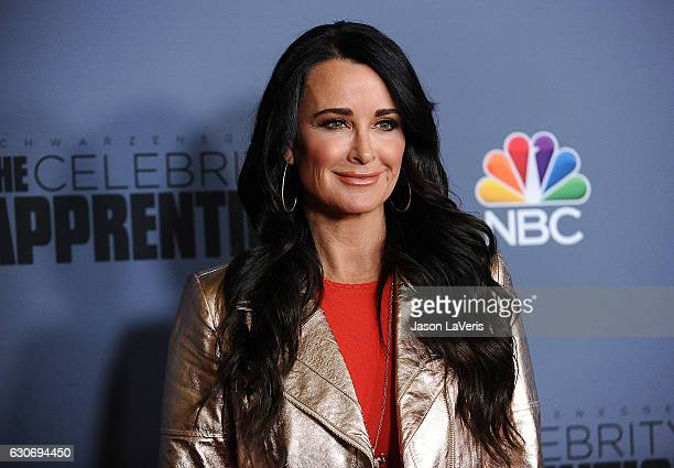 Kyle Richards attends the press junket For NBC's 'Celebrity Apprentice' at The Fairmont Miramar Hotel Bungalows on January 28 2016 in Santa Monica...