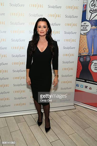 Kyle Richards attends the SculpSure launch event at Trump SoHo on January 21 2016 in New York City