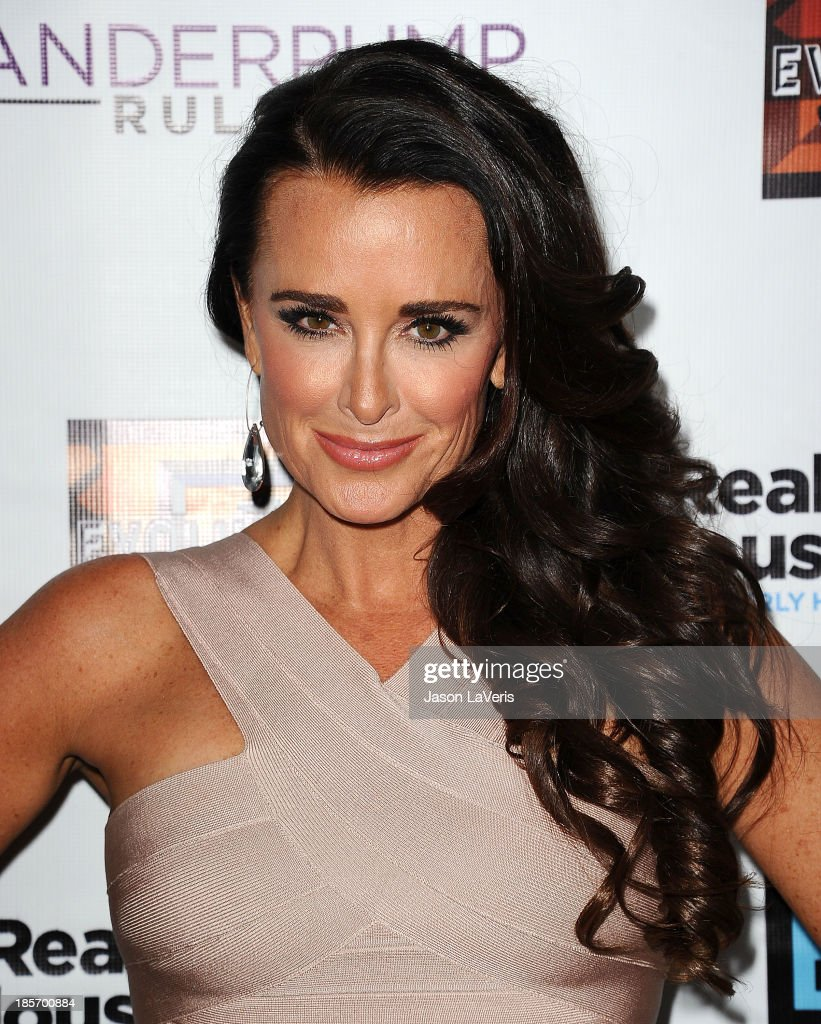 <a gi-track='captionPersonalityLinkClicked' href=/galleries/search?phrase=Kyle+Richards&family=editorial&specificpeople=2586434 ng-click='$event.stopPropagation()'>Kyle Richards</a> attends the 'The Real Housewives of Beverly Hills' and 'Vanderpump Rules' premiere party at Boulevard3 on October 23, 2013 in Hollywood, California.