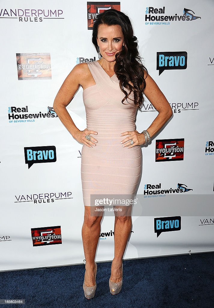 Kyle Richards attends the 'The Real Housewives of Beverly Hills' and 'Vanderpump Rules' premiere party at Boulevard3 on October 23, 2013 in Hollywood, California.
