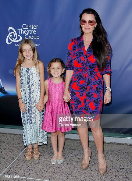Kyle Richards her daughter Portia Umansky and guest attend 'Matilda The Musical' opening night at Ahmanson Theatre on June 7 2015 in Los Angeles...