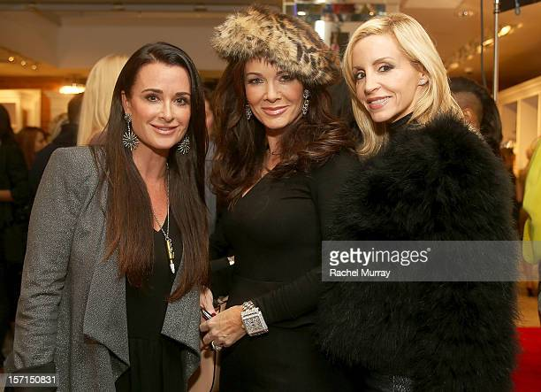 Kyle Richards Lisa VanderPump and Camille Grammer attend Kyle By Alene Too holiday shopping event featuring Bullets For Peace benefiting Safe Passage...