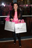 Kyle Richards of Bravo's 'The Real Housewives of Beverly Hills' poses outside Alene Too on October 25 2012 in Boca Raton Florida