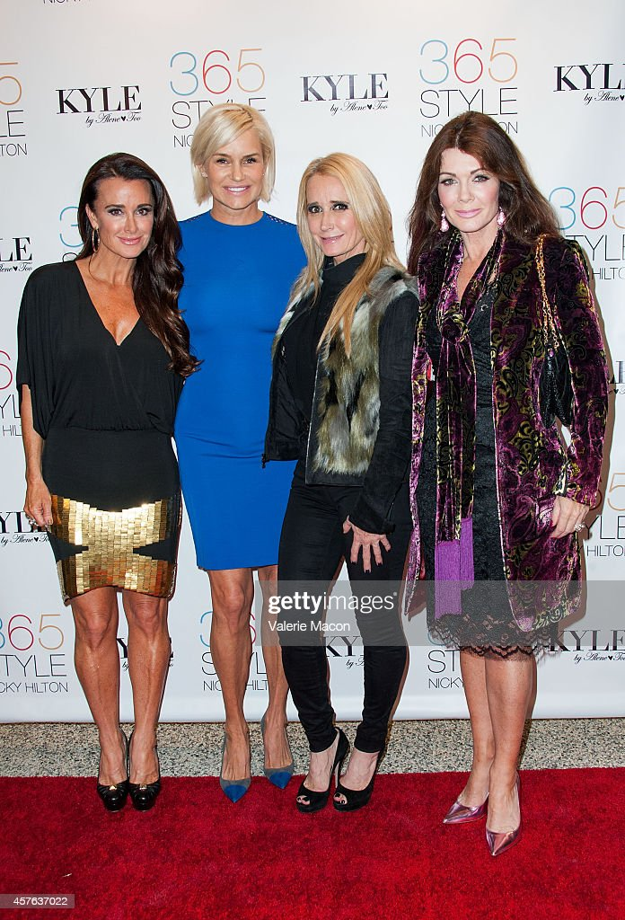Kyle Richards Yolanda Foster Kim Richards and Lisa Vanderpump attend Nicky Hilton's '365 Style' book party for the filming of 'The Real Housewives of...