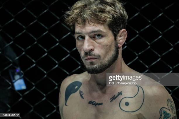 Kyle Rozewski prepares for his bout against Tetsuya Yamada during ONE Championship Shanghai at the Shanghai Oriental Sports Center on September 02...