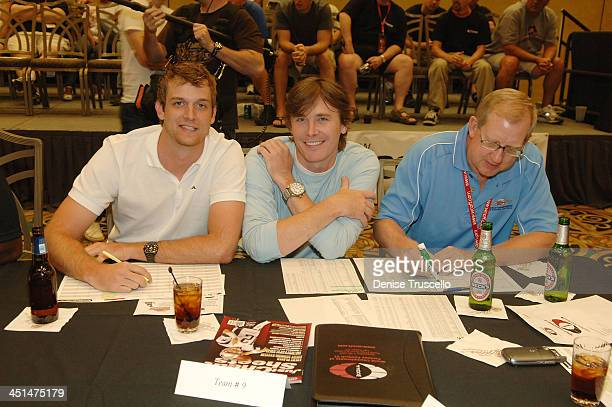 Kyle Rucker Corporal Casey Owens and Bill Lester attend the 2008 World Championship of Fantacy Football Celebrity League at the Hilton Hotel and...