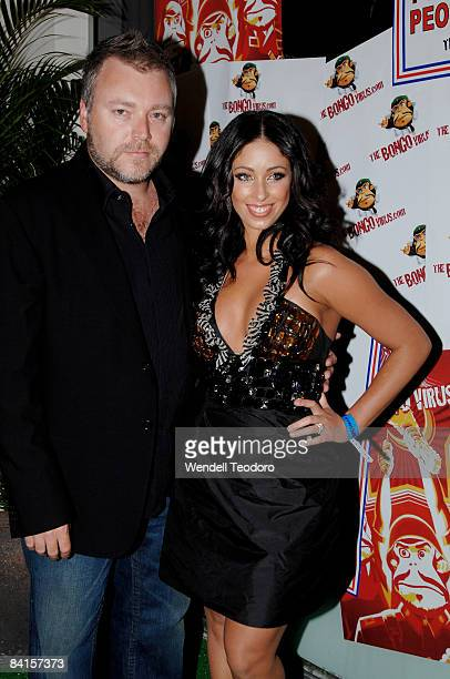 Kyle Sandilands and Tamara Jaber arrives for world's biggest online New Year's Eve party 'The Bongo Virus' at Trademark on December 31 2008 in Sydney...