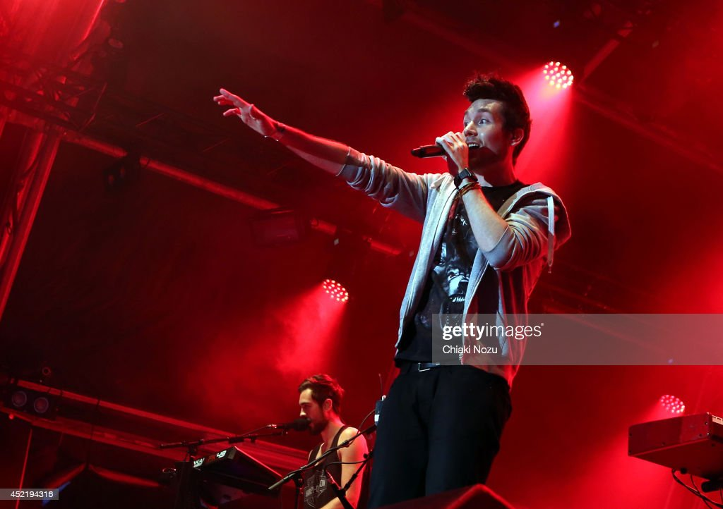 Kyle Simmons and Dan Smith of Bastille perform as part of The Summer Series at Somerset House on July 15, 2014 in London, England.