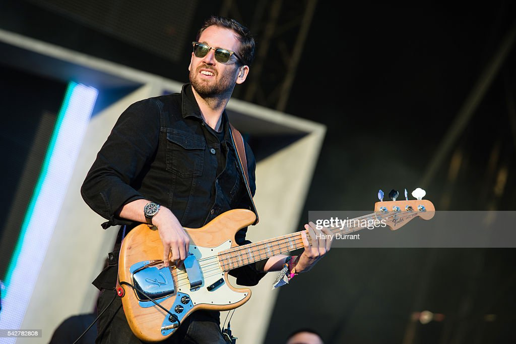 <a gi-track='captionPersonalityLinkClicked' href=/galleries/search?phrase=Kyle+Simmons+-+Musician&family=editorial&specificpeople=9756970 ng-click='$event.stopPropagation()'>Kyle Simmons</a> from Bastille performs on The Other Stage, Glastonbury Festival 2016 at Worthy Farm, Pilton on June 24, 2016 in Glastonbury, England.