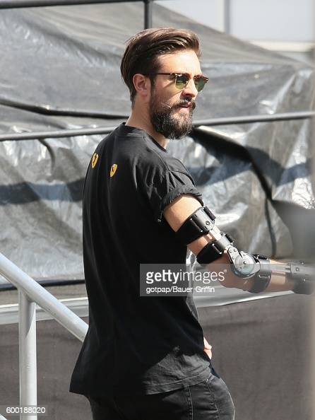 Kyle Simmons of 'Bastille' is seen at 'Jimmy Kimmel Live' on September 07 2016 in Los Angeles California
