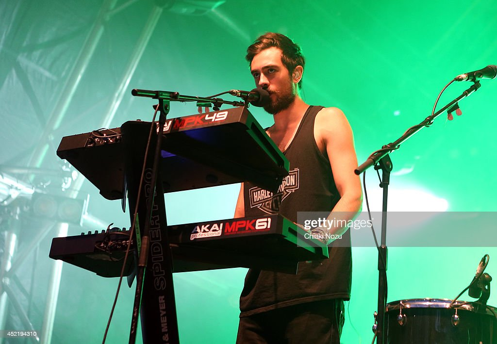 <a gi-track='captionPersonalityLinkClicked' href=/galleries/search?phrase=Kyle+Simmons+-+Musician&family=editorial&specificpeople=9756970 ng-click='$event.stopPropagation()'>Kyle Simmons</a> of Bastille performs as part of The Summer Series at Somerset House on July 15, 2014 in London, England.
