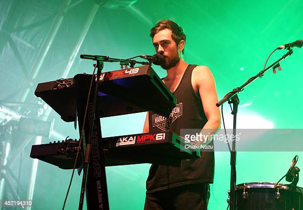 Kyle Simmons of Bastille performs as part of The Summer Series at Somerset House on July 15 2014 in London England