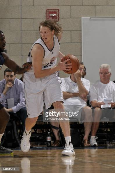 Kyle Singler of the Detroit Pistons posts up against the Utah Jazz during the 2012 Air Tran Airways Orlando Pro Summer League on July 11 2012 at...
