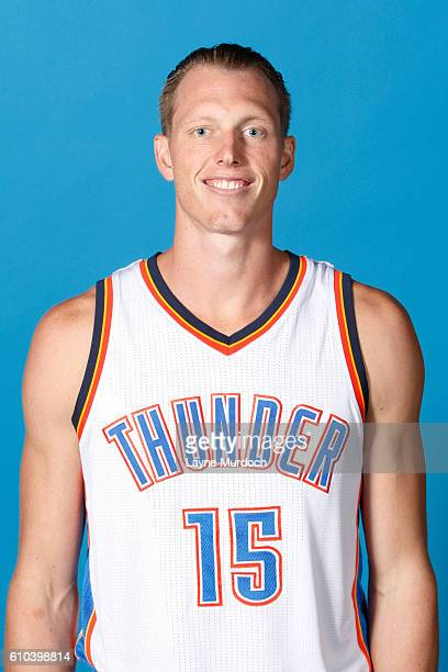 Kyle Singler of the Oklahoma City Thunder poses for a head shot during the 2016 NBA Media Day on September 25 2016 at the Chesapeake Energy Arena in...