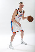 Kyle Singler of the Oklahoma City Thunder poses for portraits on February 22 2015 at the Chesapeake Energy Arena in Oklahoma City Oklahoma NOTE TO...