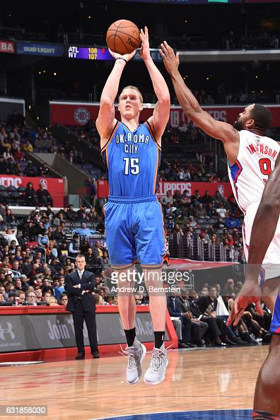Kyle Singler of the Oklahoma City Thunder shoots the ball against the LA Clippers on January 16 2017 at STAPLES Center in Los Angeles California NOTE...