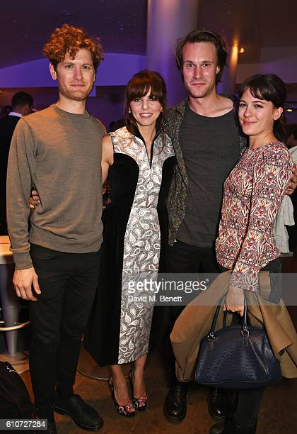 Kyle Soller Ophelia Lovibond Hugh Skinner and Phoebe Fox attend the press night after party for 'The Libertine' at the Haymarket Hotel on September...