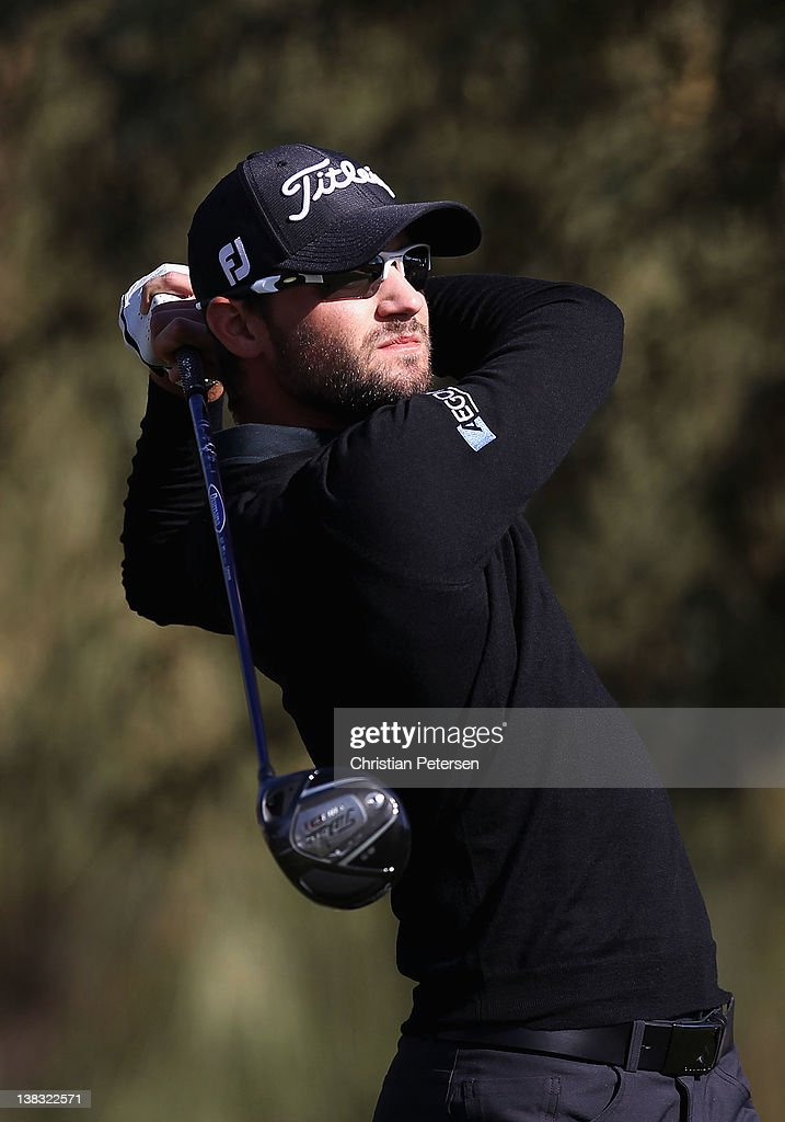 Kyle Stanley hits a tee shot on the second hole during the final round of the Waste Management Phoenix Open at TPC Scottsdale on February 5, 2012 in Scottsdale, Arizona.