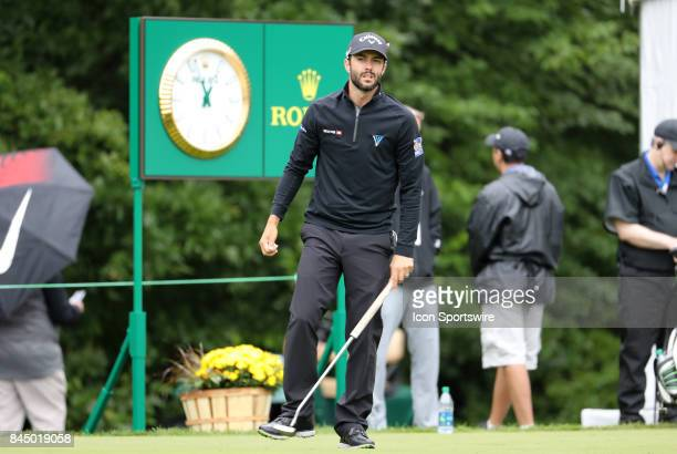 Kyle Stanley of the United States during the third round of the Dell Technologies Championship on September 3 at TPC Boston in Norton Massachusetts