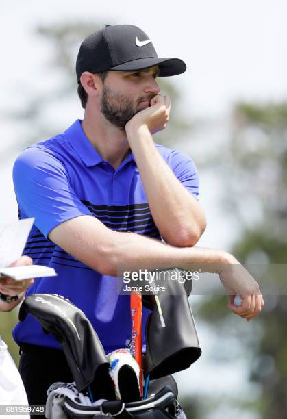Kyle Stanley of the United States looks on from the 16th hole during the first round of THE PLAYERS Championship at the Stadium course at TPC...