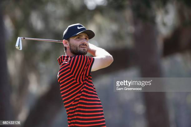 Kyle Stanley of the United States plays a shot on the eighth hole during the second round of THE PLAYERS Championship at the Stadium course at TPC...