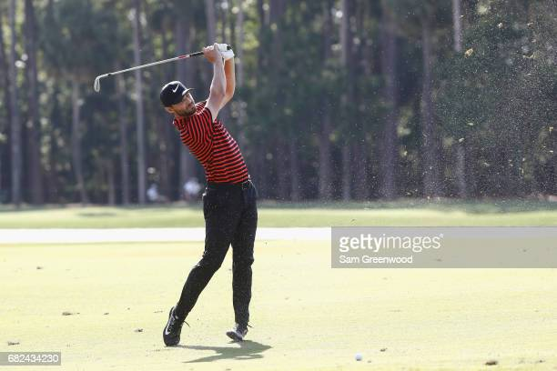 Kyle Stanley of the United States plays a shot on the seventh hole during the second round of THE PLAYERS Championship at the Stadium course at TPC...