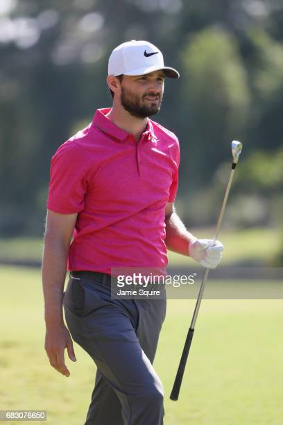 Kyle Stanley of the United States plays a shot on the tenth hole during the final round of THE PLAYERS Championship at the Stadium course at TPC...