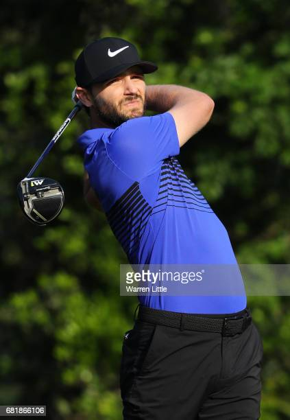 Kyle Stanley of the United States plays his shot from the fifth tee during the first round of THE PLAYERS Championship at the Stadium course at TPC...