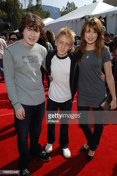 Kyle Sullivan Dean Collins and Kaylee DeFer during 2005 Teen Choice Awards Red Carpet at Gibson Amphitheatre in Universal City California United...
